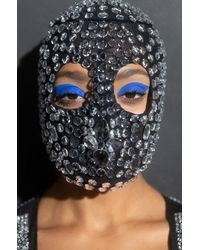 AKIRA Express Yourself Crystal Fashion Mask - Black