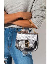 AKIRA So Into You Metallic Satchel Bag