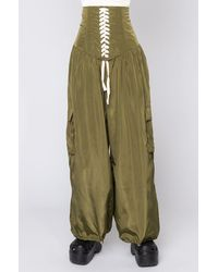 AKIRA Bring It Back JOGGER With Attached Corset - Green