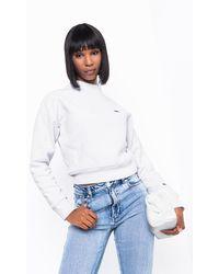 Champion - Womens Reverse Weave Mock Neck Crop Sweatshirt - Lyst