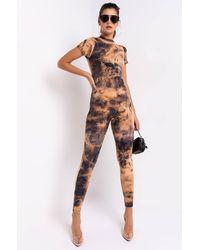 AKIRA Flaunt That Tie Dye Long Sleeve Jumpsuit - Multicolour