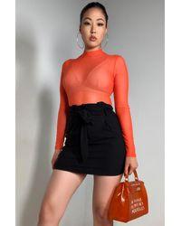 AKIRA Simplicity Mesh Bodysuit - Black