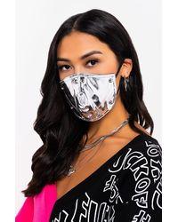 AKIRA Hot Reflections Metallic Pu Fashion Face Cover