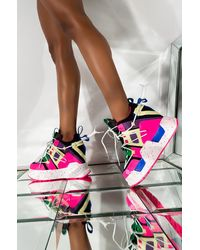 AKIRA Color Tuned Platform Sneaker - Pink