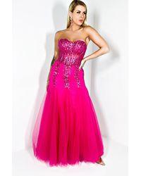 AKIRA Dream Girl Strapless Maxi Dress - Pink