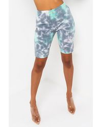 Kappa Womens Authentic Amble Biker Shorts - Blue