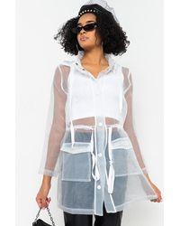 AKIRA Pop Out Long Sleeve Mesh Jacket - White