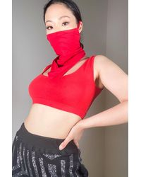 AKIRA Simple And Chic Fashion Face And Neck Cover - Red