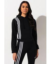 adidas Side Stripe Hoodie - Black