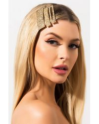 AKIRA See Things My Way Textured Hair Pin Set - Metallic