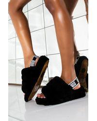 UGG Fluff Yeah Slides - Shoes - Black