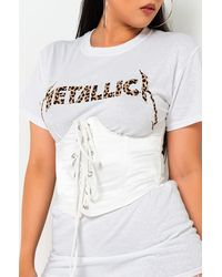 AKIRA Roll With Us Lace Up Corset - White