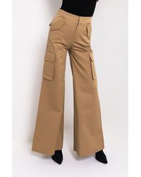 AKIRA Can't Stop The Beat Fashion Wide Leg Trousers - Natural