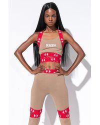 Kappa Womens 222 Tibey Bra Top - Brown