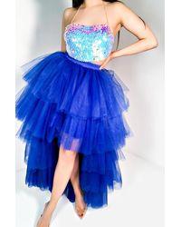 AKIRA I Aint Sorry Tulle Skirt - Blue