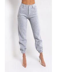 AKIRA Give Me Attitude Sweatpants With Side Cutout - Gray