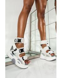 AKIRA Say My Name Flatform Sandal - Multicolour