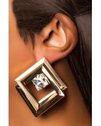 AKIRA Keep It Classy Stud Earring - Metallic