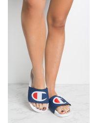 e7bba29e9cd74 Lyst - Champion Pool Slide Sandals in Black - Save 5.882352941176464%