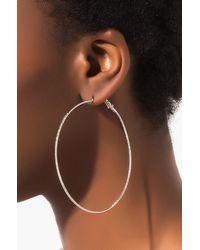AKIRA Day 'n Night Hoop Earring - Metallic