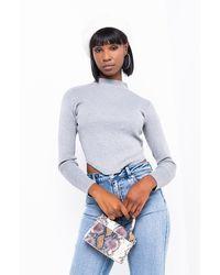 AKIRA Coco Rib Sweater - Gray