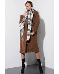 AKIRA - Charmed Plaid Rectangle Scarf - Lyst