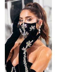 AKIRA Keep It 100% Velvet Fashion Face Cover - Black