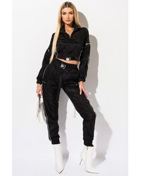 AKIRA All Star Buckle Track JOGGERS - Black