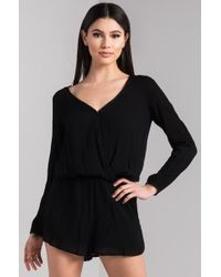 AKIRA - Don't Have To Be Lonely Open Back Romper - Lyst