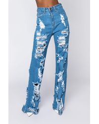 AKIRA I Am Always Relaxed Jeans - Blue