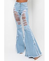 AKIRA Can't Get Enough Mid Rise Jeans - Blue