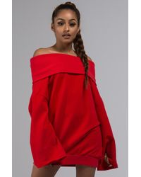 AKIRA - Back To The Future Off Shoulder Sweatshirt - Lyst