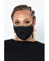 AKIRA Chain Fashion Face Cover - Black