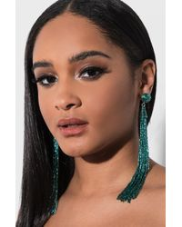 AKIRA - Gatsby Fringe Bead Earring - Lyst