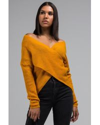 AKIRA - In Due Time Crossover Sweater - Lyst