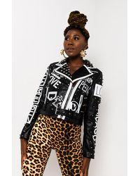AKIRA Not Ur Groupie Leopard Moto Jacket - Black