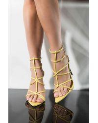 6e47559210fe Cape Robbin - Skip A Heart Beat Sexy Stiletto Sandal - Lyst