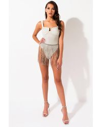 AKIRA - Out On The Town 3d Sparkle Bodysuit - Lyst