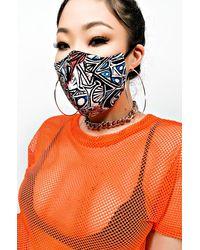 AKIRA I Can Fly Fashion Face Cover - Orange