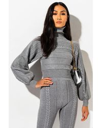 AKIRA Forever Cosy And Chic Jumper - Grey