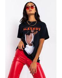 AKIRA Playboy Young Love Short Sleeve T-shirt - Black