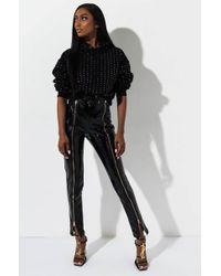AKIRA Be Cool Vinyl Pants - Black