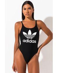 adidas Womens Trefoil Swimsuit - Black