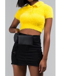 AKIRA Ready For The Weekend Belted Fanny Pack - Black