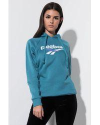 Reebok Vector Logo Hoodie Sweatshirt - Blue