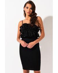 AKIRA All We Do Ruffle Midi Dress - Black