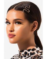 AKIRA Eve Snake Hair Pin - Metallic