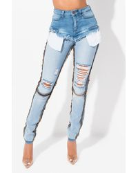 AKIRA - Reverse Me Not Skinny Jeans - Lyst