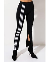 adidas Womens One Side Striped Track Pants - Black