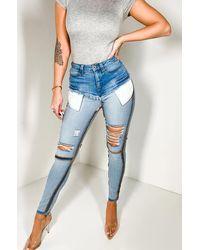AKIRA Reverse Me Not Skinny Jeans - Blue